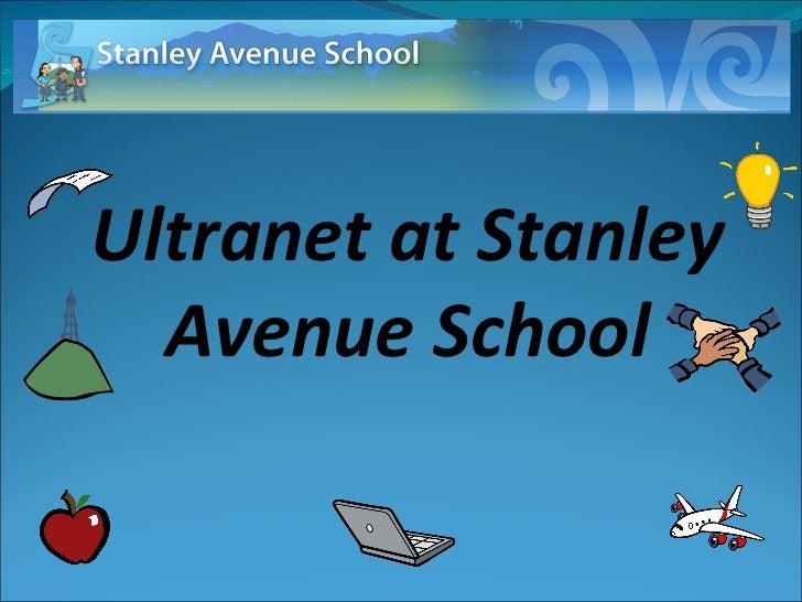 Ultranet at Stanley Avenue School