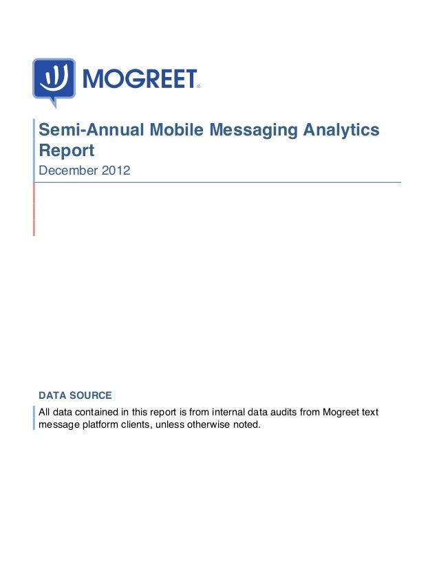 Mogreet Semi Annual Messaging Data Report2012