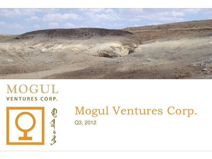 Mogul Ventures Corporate Presentation