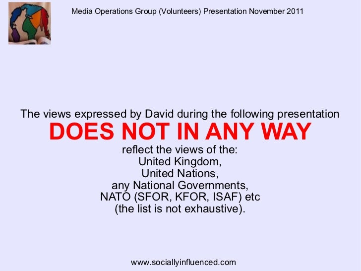 Media Operations Group (Volunteers) Presentation November 2011