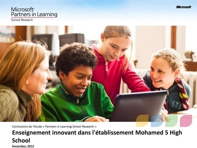 Mohamed 5 High School - School Report - December 2012