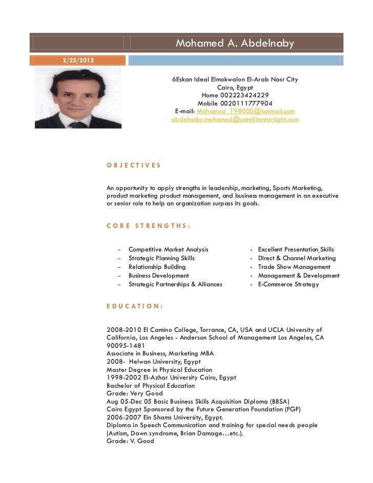 Resume for Mohamed abdelnaby