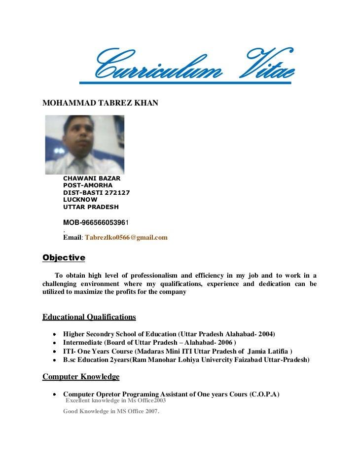 Curriculum Vitae                                            <br />                                              ...