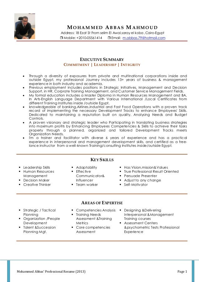mohammed abbas updated resume