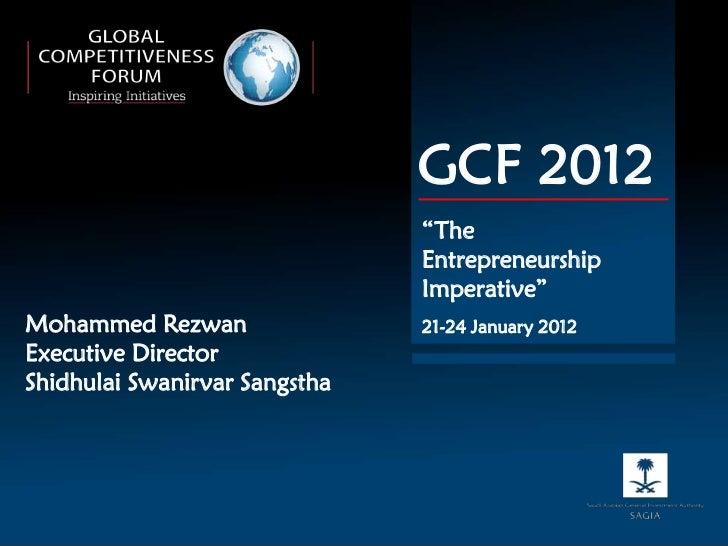 "GCF 2012                               ""The                               Entrepreneurship                               I..."