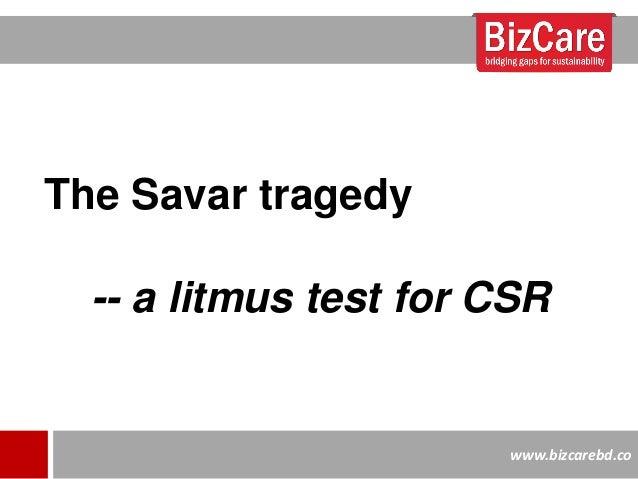 The Savar Tragedy in Bangladesh: A Litmus Test for CSR?