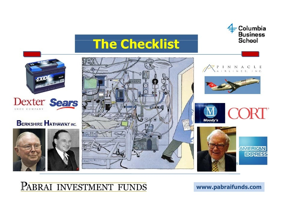 Use Of Checklist In Investing
