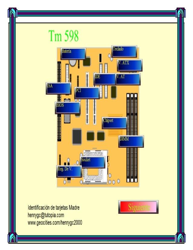 """Elementos que componen""""La tarjeta madre""""1. La batería: es la encargada de suministrar energía a la memoria que guarda los ..."""