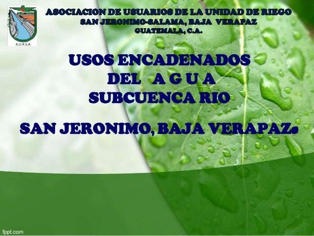 Moisés Román AURSA - GWP Guatemala
