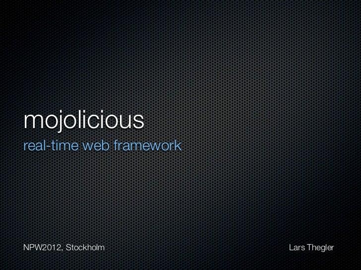 Mojolicious, real-time web framework