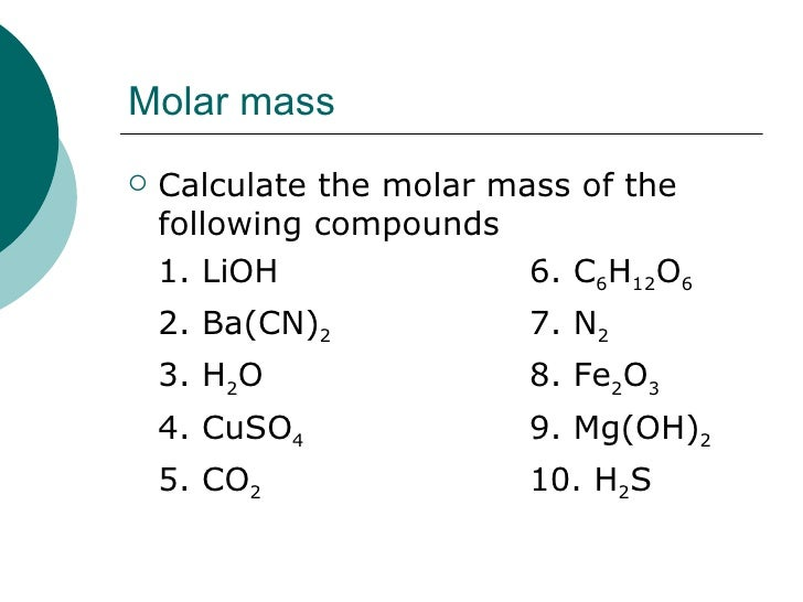 how to find moles of an element in a compound