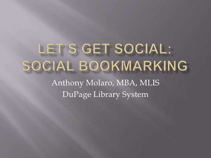 Molaro presentation social_bookmarking