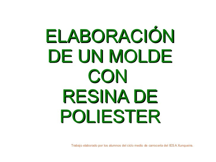 Molde resina poliester for Arcones de resina para exterior