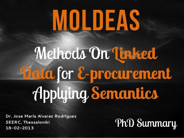 MOLDEAS-PhD Summary