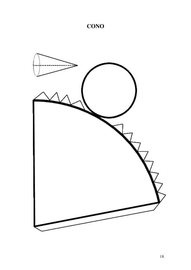 Moldes de cuerpos geom tricos - Como hacer un cono ...