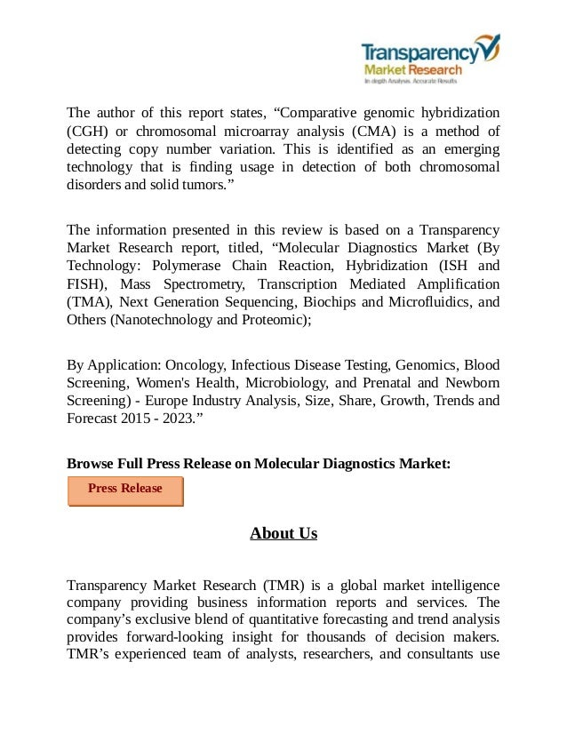 the emerging molecular diagnostics industry Five companies dominate molecular diagnostics  and they can reach emerging markets faster than smaller concerns  while molecular diagnostics industry leaders .