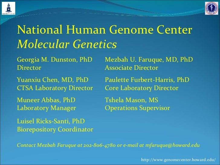 Molecular Genetics Unit