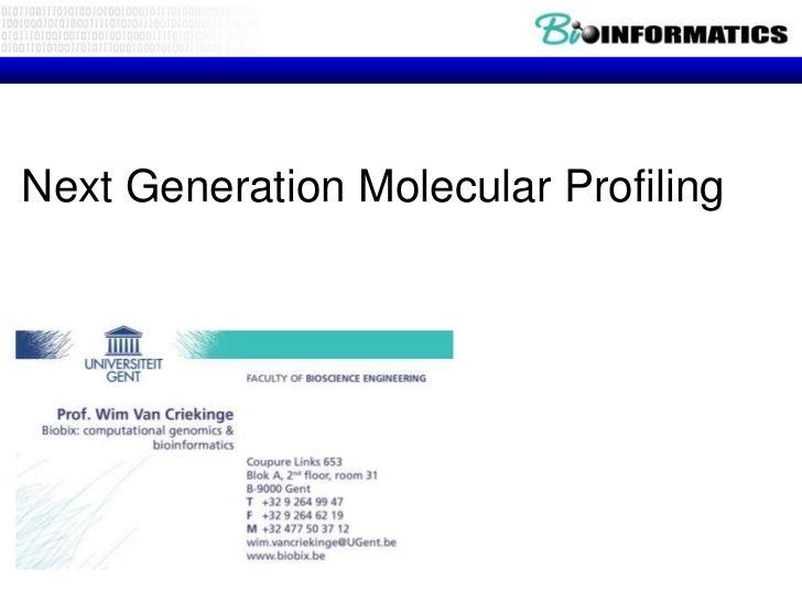 Molecular profiling 2012