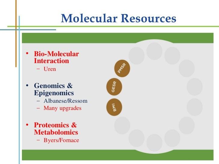 Molecular Resources <ul><li>Bio-Molecular Interaction </li></ul><ul><ul><li>Uren </li></ul></ul><ul><li>Genomics & Epigeno...
