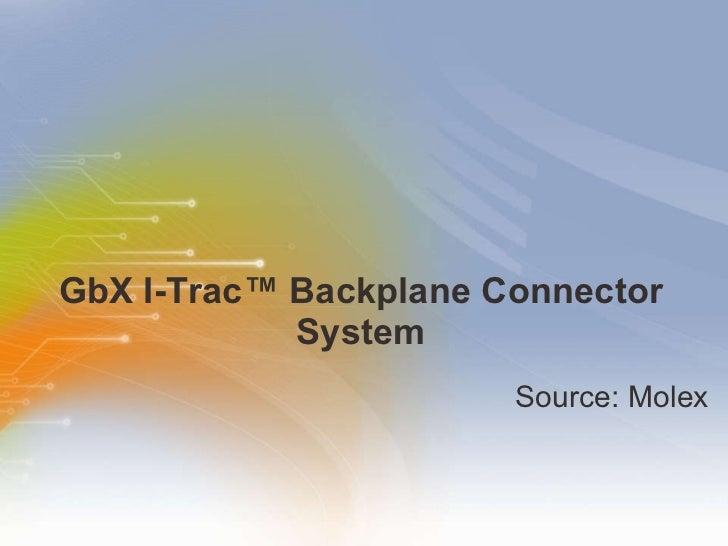 GbX I-Trac™ Backplane Connector System <ul><li>Source: Molex </li></ul>