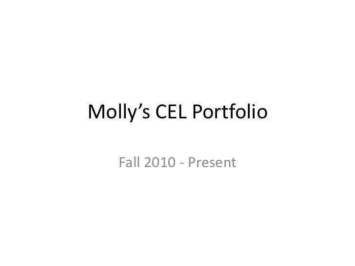 Molly's CEL Portfolio   Fall 2010 - Present