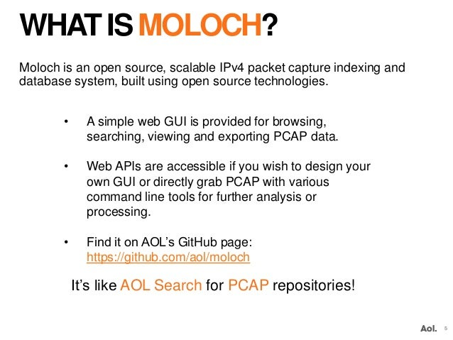 MOLOCH: Search for Full Packet Capture (OA Cyber Summit)