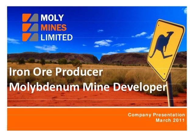 Moly Mines Company Presentation