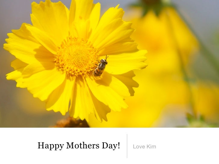 Happy Mothers Day!   Love Kim