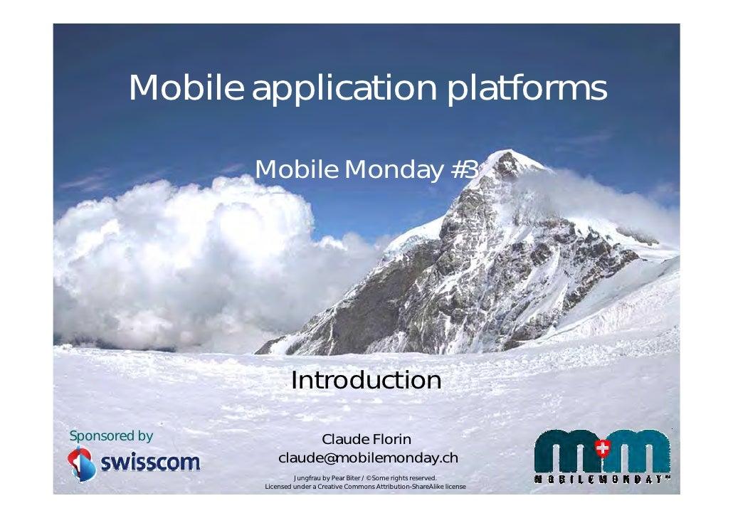 Mobile application platforms - Introduction