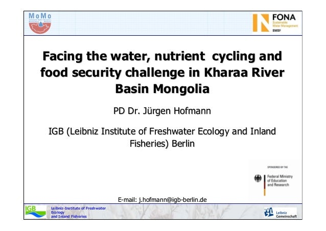 Leibniz-Institute of Freshwater Ecology and Inland Fisheries Facing the water, nutrient cycling andFacing the water, nutri...