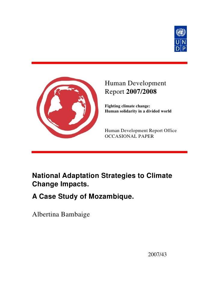 Human Development                      Report 2007/2008                      Fighting climate change:                     ...
