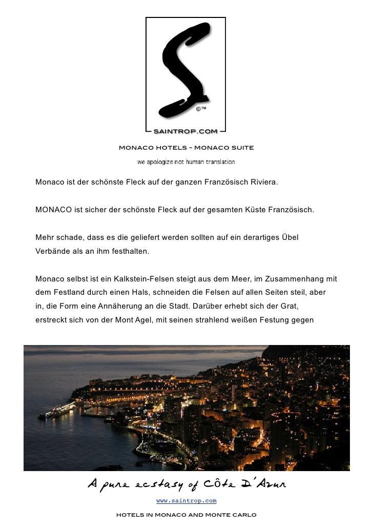 monaco hotels - monaco suite     Monaco ist der schönste Fleck auf der ganzen Französisch Riviera.   MONACO ist sicher der...