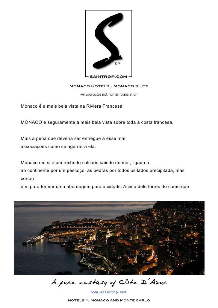 monaco hotels - monaco suite     Mônaco é a mais bela vista na Riviera Francesa.   MÔNACO é seguramente a mais bela vista ...