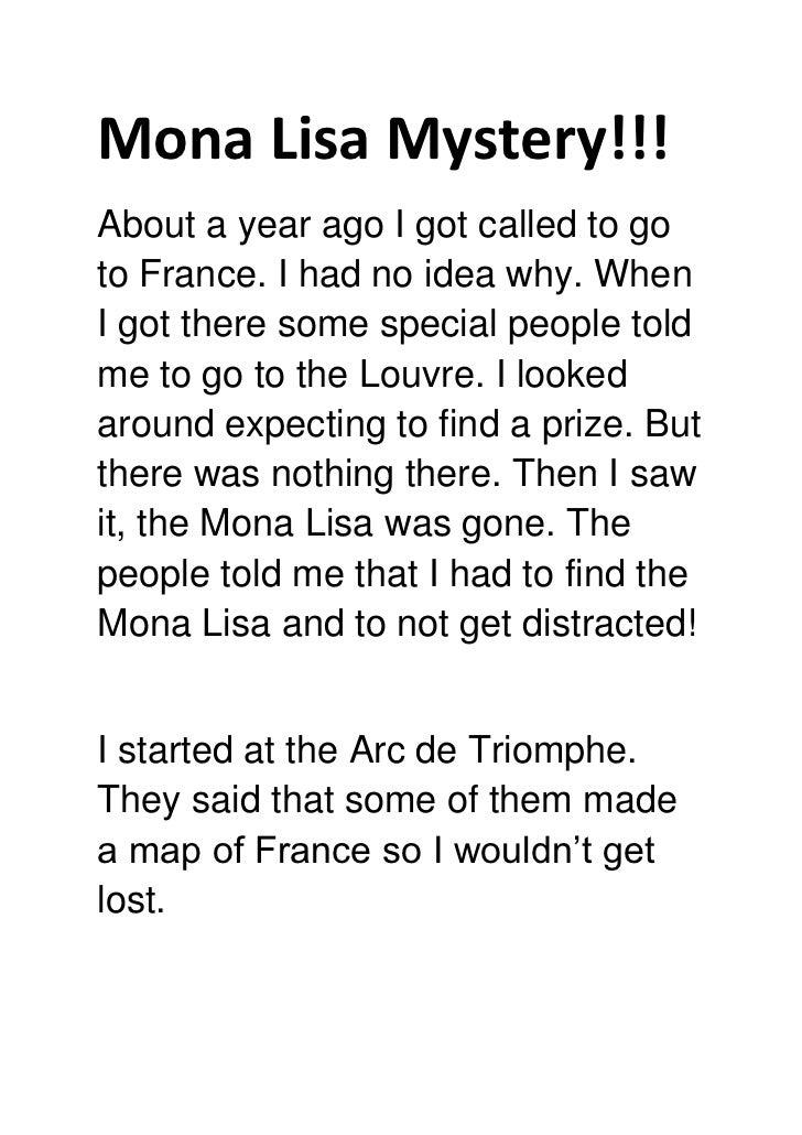 Mona Lisa Mystery!!!About a year ago I got called to goto France. I had no idea why. WhenI got there some special people t...