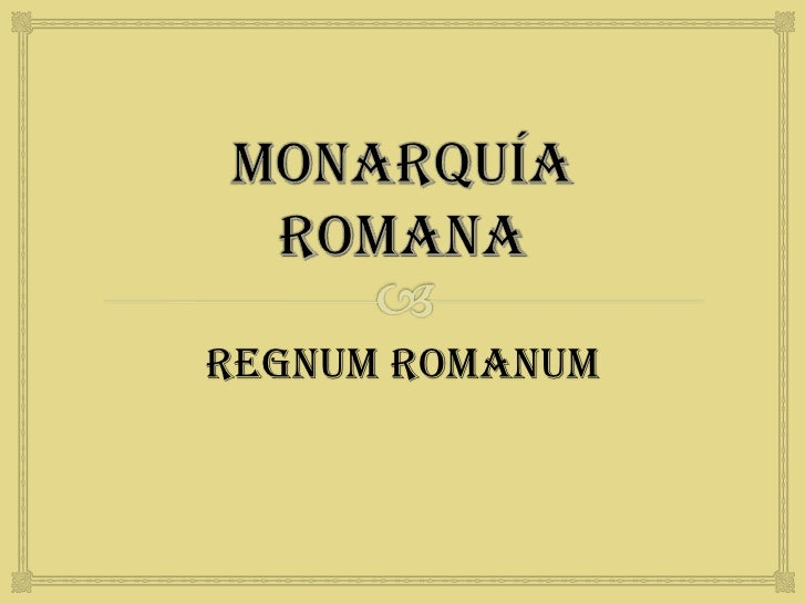 REGNUM ROMANUM