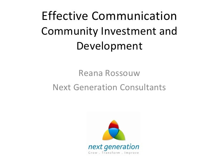 Talk delivered at Monash University - How to effectively communicate corporate and community investment and development