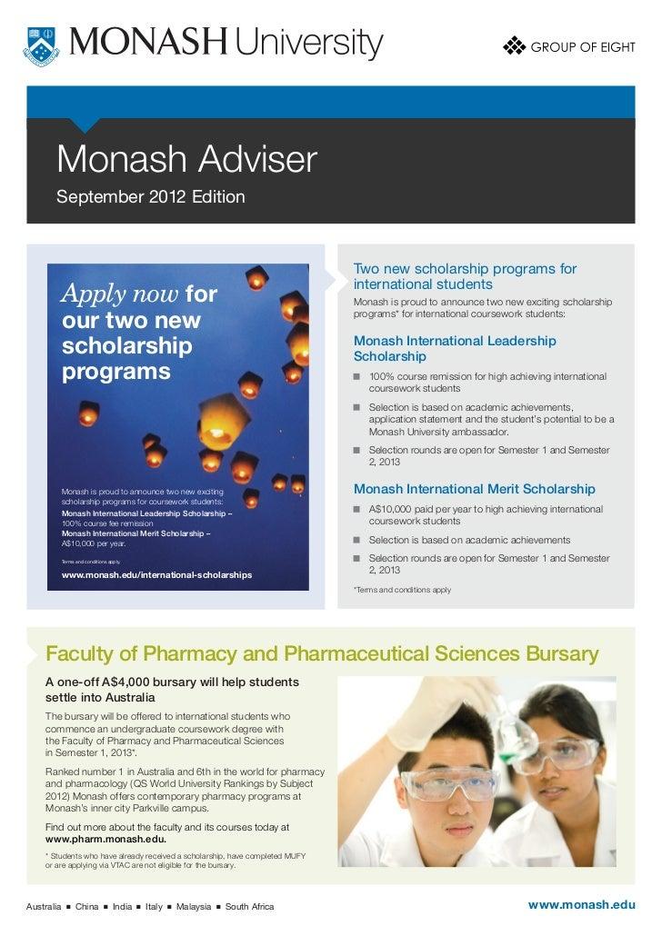 Monash Adviser       September 2012 Edition                                                                               ...