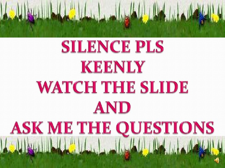 SILENCE PLS<br />KEENLY<br />WATCH THE SLIDE<br />AND <br />ASK ME THE QUESTIONS<br />