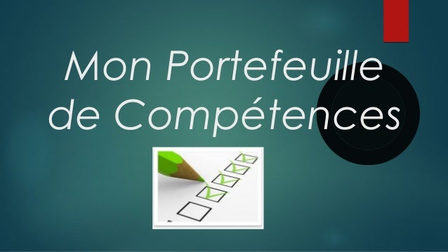 mon book de competences
