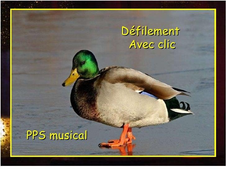 PPS musical Défilement  Avec clic