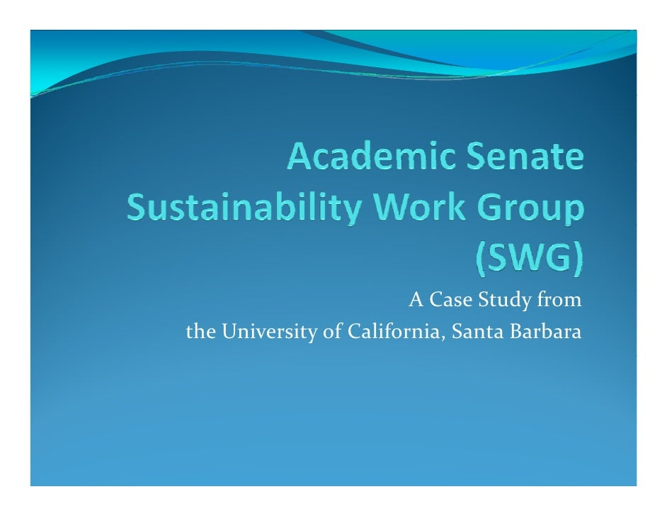 A Case Study from the University of California, Santa Barbara
