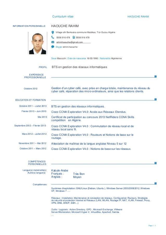 mon cv pdf