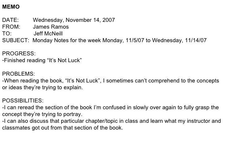 Monday Notes #12 11 14 07
