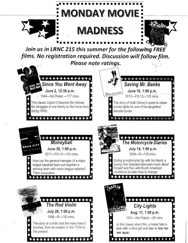 Monday movie madness