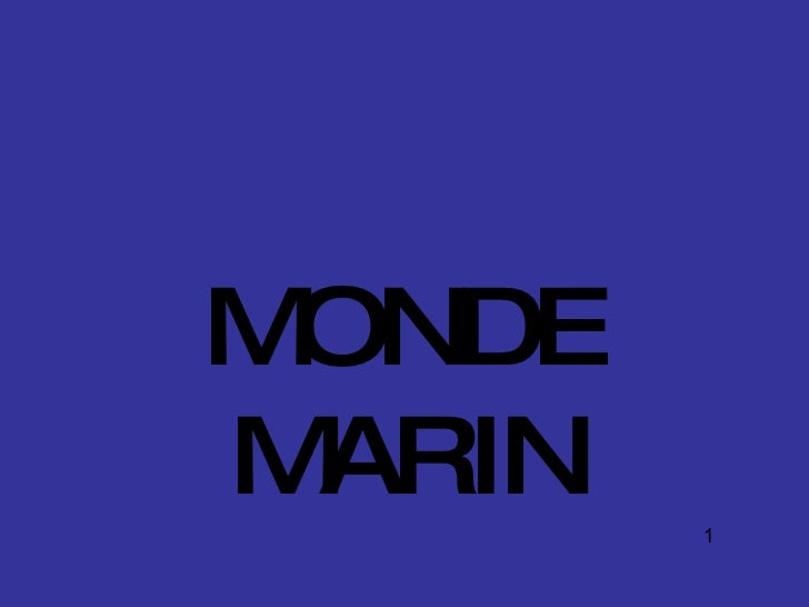 MONDE M ARIN   1