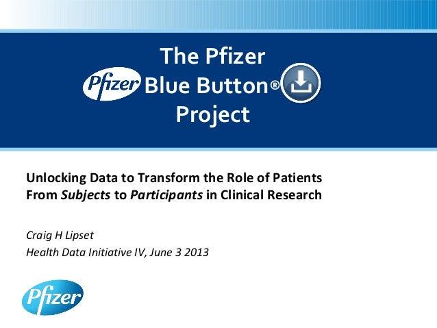 Health Datapalooza 2013: Blue Button Plus For Data Holders - Craig Lipset
