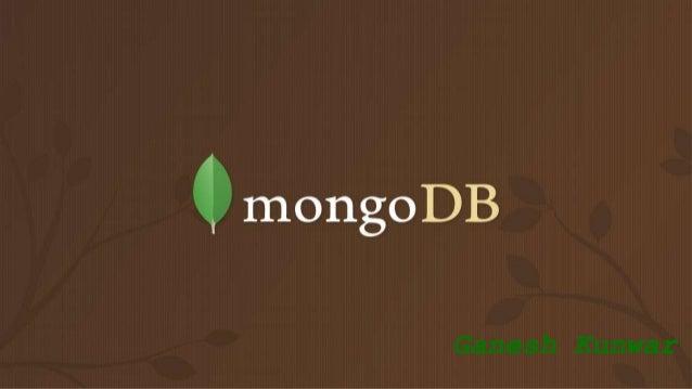 MongoDB Ganesh Kunwar
