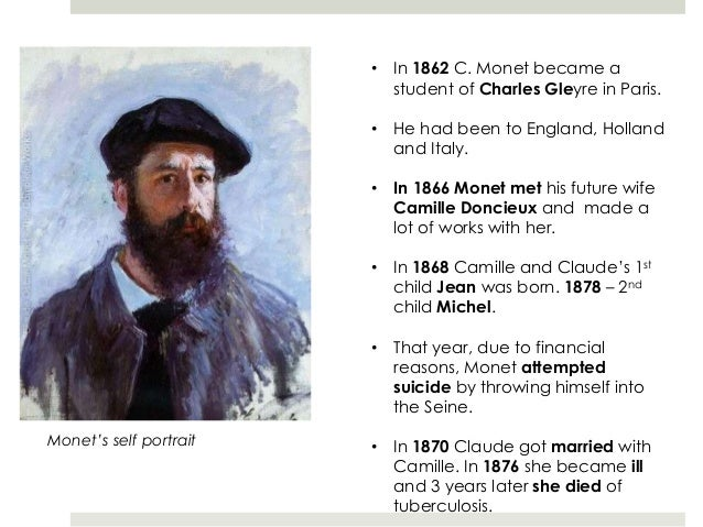 a biography of claude monet a french painter Claude monet was a french painter known for his pioneering role in the development of impressionism view claude monet's 1,287 artworks on artnet find an in-depth biography, exhibitions, original artworks for sale, the latest news, and sold auction prices.