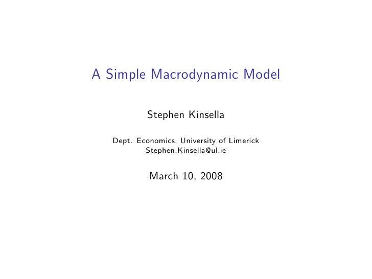 Monetary Economics Guest Lecture