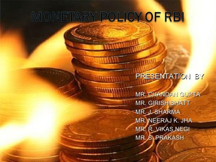 PRESENTATION  BY MR. CHANDAN GUPTA MR. GIRISH BHATT MR. J. SHARMA MR. NEERAJ K. JHA MR. R. VIKAS NEGI MR. S. PRAKASH